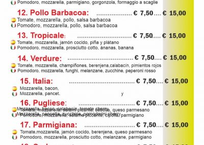PIZZERIA FORNODORO menu 2 llano del camello LAS CHAFIRAS COMIDAS PARA LLEVAR