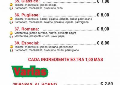 PIZZERIA FORNODORO menu 5 llano del camello LAS CHAFIRAS COMIDAS PARA LLEVAR