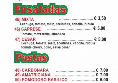 PIZZERIA FORNODORO menu 6 llano del camello LAS CHAFIRAS COMIDAS PARA LLEVAR