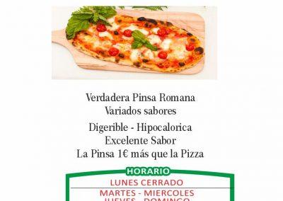 PIZZERIA FORNODORO menu 7 LA CAMELLA LAS CHAFIRAS COMIDAS PARA LLEVAR